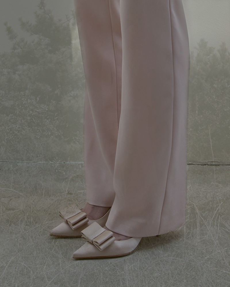 [ Pink ] SILK SUIT dressy-fit